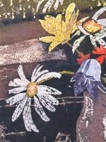 Watercolour Batik on Ginwashi paper
