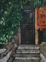"""Watercolour Batik on Ginwashi paper 12x18"""""""