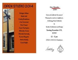 Open studio invitation