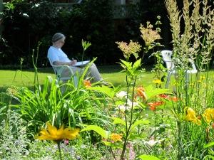 Lou in garden 2013